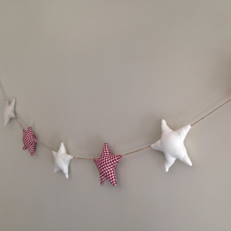 Guirnalda estrellas de tela - Guirnaldas de tela ...