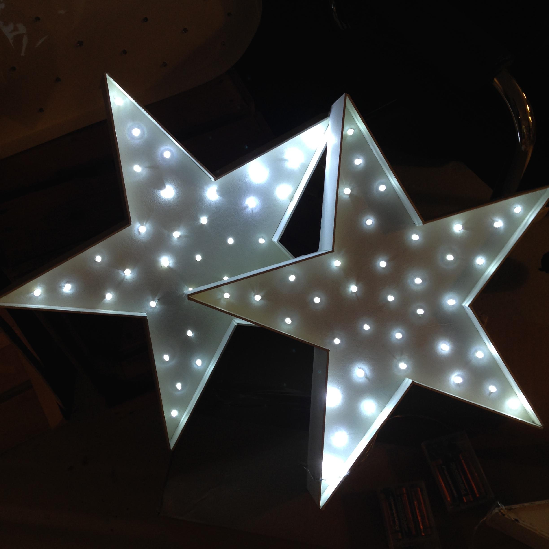Decoracion para estrellas de fom estrellas y copos para for Decoracion con estrellas