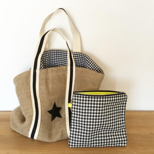 Bolso saco estrella negra - Bolsos de tela hechos en casa ...