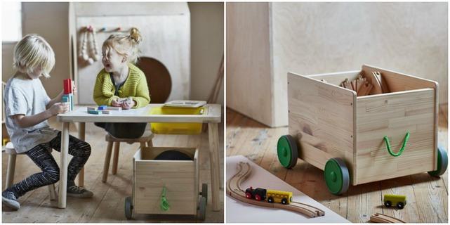 colección cápsula de IKEA FLISAT  Una serie de muebles de madera
